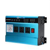 10000W Szczyt 4 porty USB Cyfrowy falownik solarny Konwerter pojazdu DC12V / 24V / 48V na AC220V