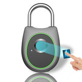 Bakeey Smart Vingerafdruk Deurslot Hangslot USB Opladen Waterdicht Keyless Anti-diefstal Reisbagage Lade Veiligheidsslot