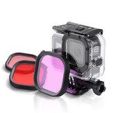 Duiklensfilter Rood / Roze / Paars Voor GoPro Hero 8 FPV-actiecamera Compatibele originele waterdichte hoes