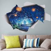 Halloween 3D Adesivo de parede Decalque Lâmpada Removível DIY Decalque assustador Poster Mural Decor