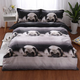 3D Animal Print Bedclothes Bedding Sets Quilt Duvet Cover Pillowcase Decor