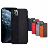 Bakeey Anti-fingerprint Retro Canvas PU Leather Protective Case for iPhone 11 Pro 5.8 inch