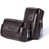 Men Genuine Leather Waist Bag Phone Bag