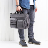 Men Nylon Multi-pocket Handbag For 14 Inch Computer Business