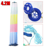 ZANLURE 14ft 4.2m Upgrade Hand Cast Fishing Net Colorful Bait Strong Nylon Line Full Spread
