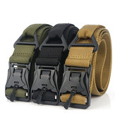 ENNIU DS3 125CM Zinc Alloy Heavy Duty Tactical Belt Outdoor Nylon Leisure Waist Belts
