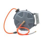 Auto Rewind 10M(33FT) 260PSI Air Hose Reel Rotation Wall Mount Air Compressor Hose Reel Auto Rewind Garage Tool Extension Cord