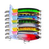 8 Pcs Fishing Lure Artificial Bait Hard ail Rotating Fishing Bait