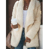 Women Teddy Bear Loose Winter Faux Fur Fleece Coats