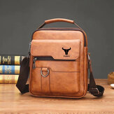 Ekphero Men Faux Leather Vintage Business Bag Messenger Bag Crossbody Bag Office Work
