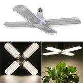 AC110-265V 50W 2835 Dobrável de quatro folhas E27 240 LED Cresce a lâmpada com clipe de suporte de lâmpada para crescimento de legumes