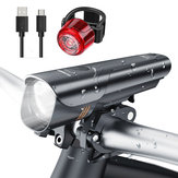XANES® BLS15 600LM Bike Headlamp USB Charging IPX4 Waterproof 4 Modes Warning Light + 5 Modes Bike Tail Light