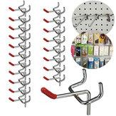 25 stks 50mm Pedboard Hook Board Wall Retail Display Winkel Peg Slat Walling