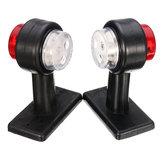 Paar LED Doppelseitenmarkierungs-Begrenzungsleuchten Lampe Rot Weiß für 12V 24V LKW-Anhänger Caravan