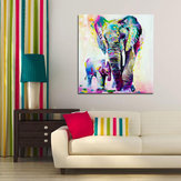 Miico Hand Painted Oil Paintings Animal Elephant Paintings Wall Art For Home Decoration