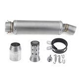 Inlet 36-51mm Motorcycle Exhaust Tail Tip Pipe Muffler Stainless Steel Modified Universal Titanium