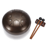 6 Inch 8 Notes G Tune Steel Lidah Drum Handpan Instrument dengan Drum Palu dan Tas