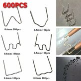 600pcs Standard Pre Cut 0.6/0.8mm Hot Staples For Plastic Stapler Car Repair Welders