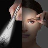 Épilation des sourcils LED pince à sourcils pince à sourcils en acier inoxydable portable avec des outils de maquillage légers