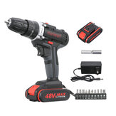 Minleaf ML-ED1 48VF Cordless Electric Impact Drill Rechargeable Drill Screwdriver W/ 1 or 2 Li-ion Battery