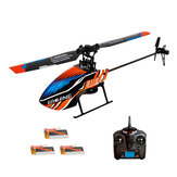 Everyine E119 2.4G 4CH 6-Axis Gyro Flybarless RC Helikopter RTF 3stk 4stk Batterier version