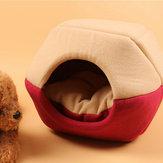 القط الكلب السرير الحيوانات الأليفة حصيرة البيت طوي Soft دافئ الحيوان جرو كهف الشتاء النوم وسادة