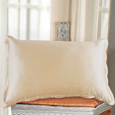1pc Ivory Double-side Silky Soft Charmeuse Silk Pillow Case Beauty Sleep-helper
