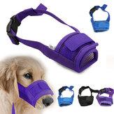 Moda Ajustável Nylon Cachorro Focinho Boca de Malha de Filhote de Cachorro Para Animais de Estimação Máscara Anti Mordida Latidos S-XL