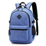 Oxford Cloth Rucksack USB Lade Anti-Diebstahl Einfache Casual Männer Laptop-Tasche