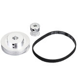 TWO TREES® 60Teeth 8mm Bore Diameter + 20Teeth 5mm Bore GT2 Timing Belt Pulley with  6mm Timing Belt for 3D Printer