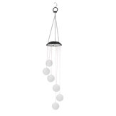 Aeolian Hanging Wind Solar LED Lights Chimes Powered String Lawn Garden Lamp