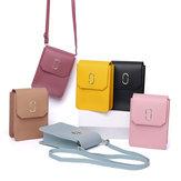 حقيبة طويلة تمر بالجسم للنساء (حقيبة صغيرة) هاتف مع محفظة (بطاقة)