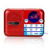 Taşınabilir FM Radyo 70-108 MHZ Güç kapalı Bellek Dijital Ekran TF Kart USB Müzik Çalar Hoparlör