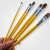 Memori 6 Pcs Nomor Aneh Artis Serigala Kuda Rambut Lukisan Sikat Set Lukisan Minyak Akrilik Perlengkapan Seni Cat Air