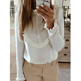 Ruffle Loose Casual Blouse