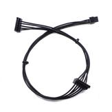 45 cm Mini 6Pin 1 do 2 15Pin Kabel dysku twardego SATA Adapter przedłużacza przewodu zasilającego