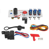 12V Auto LED Toggle Ignition Switch Panel Rennfahrzeug Motor Start Push Set