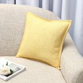 Cojín de lino de 45x45 cm Caso Funda de cojín Asiento Sofá Caso Decoración del dormitorio del hogar