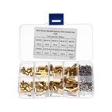 Suleve™ M2.5BH1 180Pcs M2.5 Brass Male-Female Hex Column Standoff Support Spacer Pillar Cross Screw Nut Assortment for PCB Board