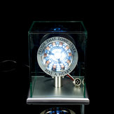 1:1 Scale MK1 Assembled Core DIY Tony Arc Reactor LED Lamp Kit With Display Stand Cover