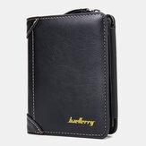 Baellerry Men Faux Leather Causal Business Zipper Coin Wallet