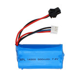 WPL Upgraded 7.4V 500mAh 2S Li-ipn Battery for B36 B24 1/16 Full Proportional Control RC Vehicles