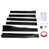 Carbon Fiber Pair of Car Side Skirt Extensions Splitters For LEXUS Infiniti