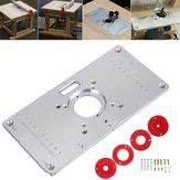 Деревообрабатывающая фрезерная вставка стола Пластина Многофункциональная фрезерная панель