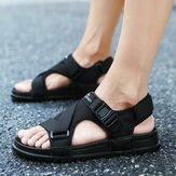 Hook & Loop Opened Toe Casual Beach Soft Sandal Tunggal