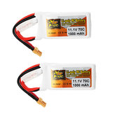 2Pcs ZOP Power 11.1V 1000mAh 70C 3S Lipo Battery XT30 Plug