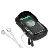 GIYO 6.4 Cal Wodoodporny TPU Rower Jazda na rowerze Telefon Torba rowerowa Kierownica Ekran dotykowy Posiadacze telefonów komórkowych Torby Z otworem na słuchawki