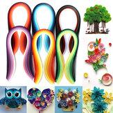 600 شرائط 30 ألوان مختلطة اللف ورقة الفن اوريغامي Papercraft DIY Craft