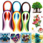600 tiras 30 colores mezclados quilling papel arte origami papercraft DIY artesanía