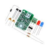 3 piezas Hall Inducción magnética Sensor Detección magnética Resolucion de polos magnéticos Módulo de detección de polos norte y sur DIY Kit